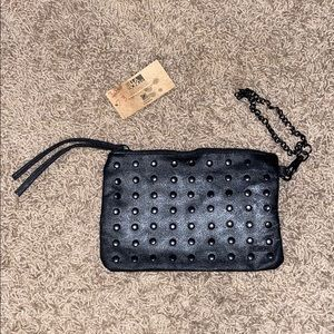 Billabong wristlet with studs and chain- New w tag